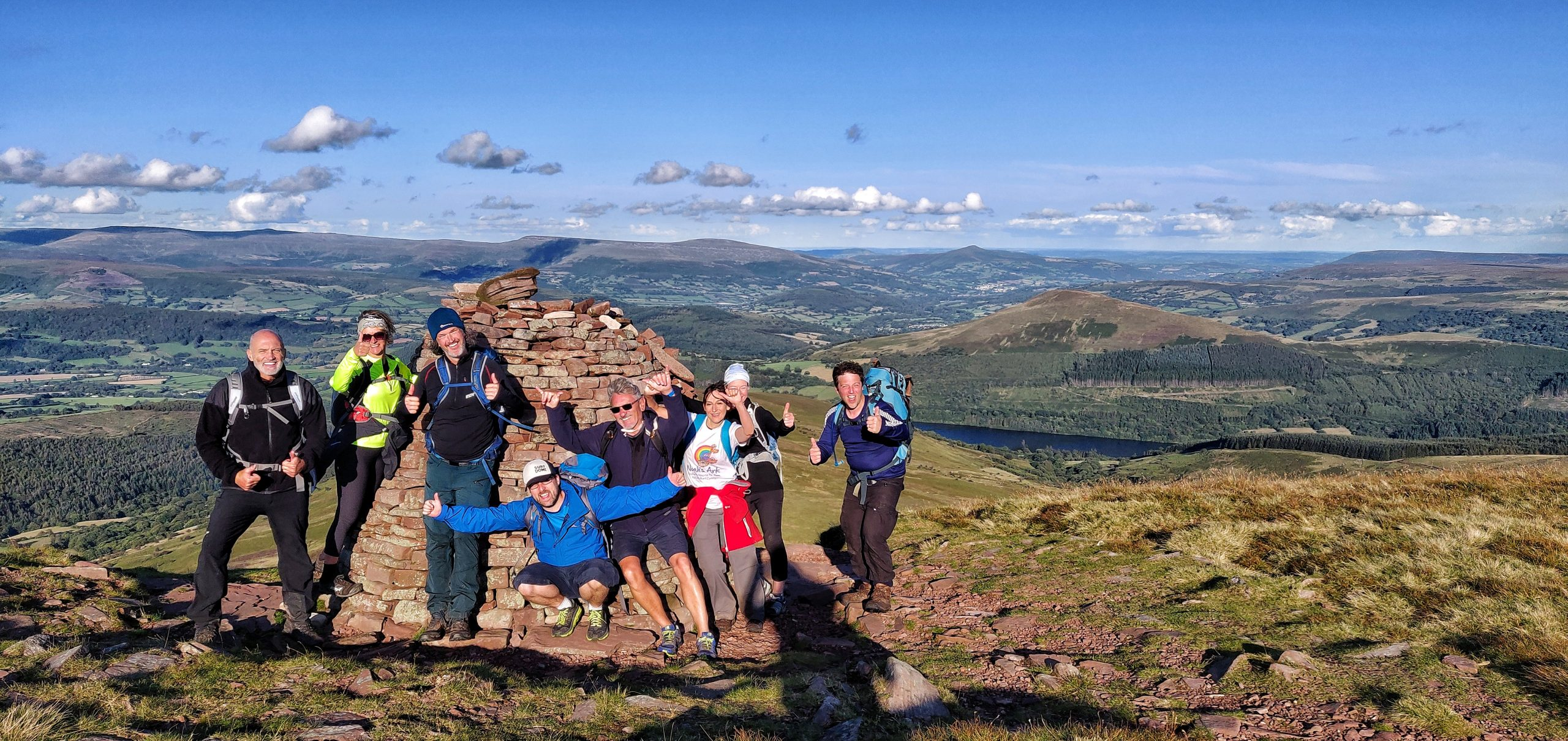 Brecon Beacons 10 Peak Challenge group