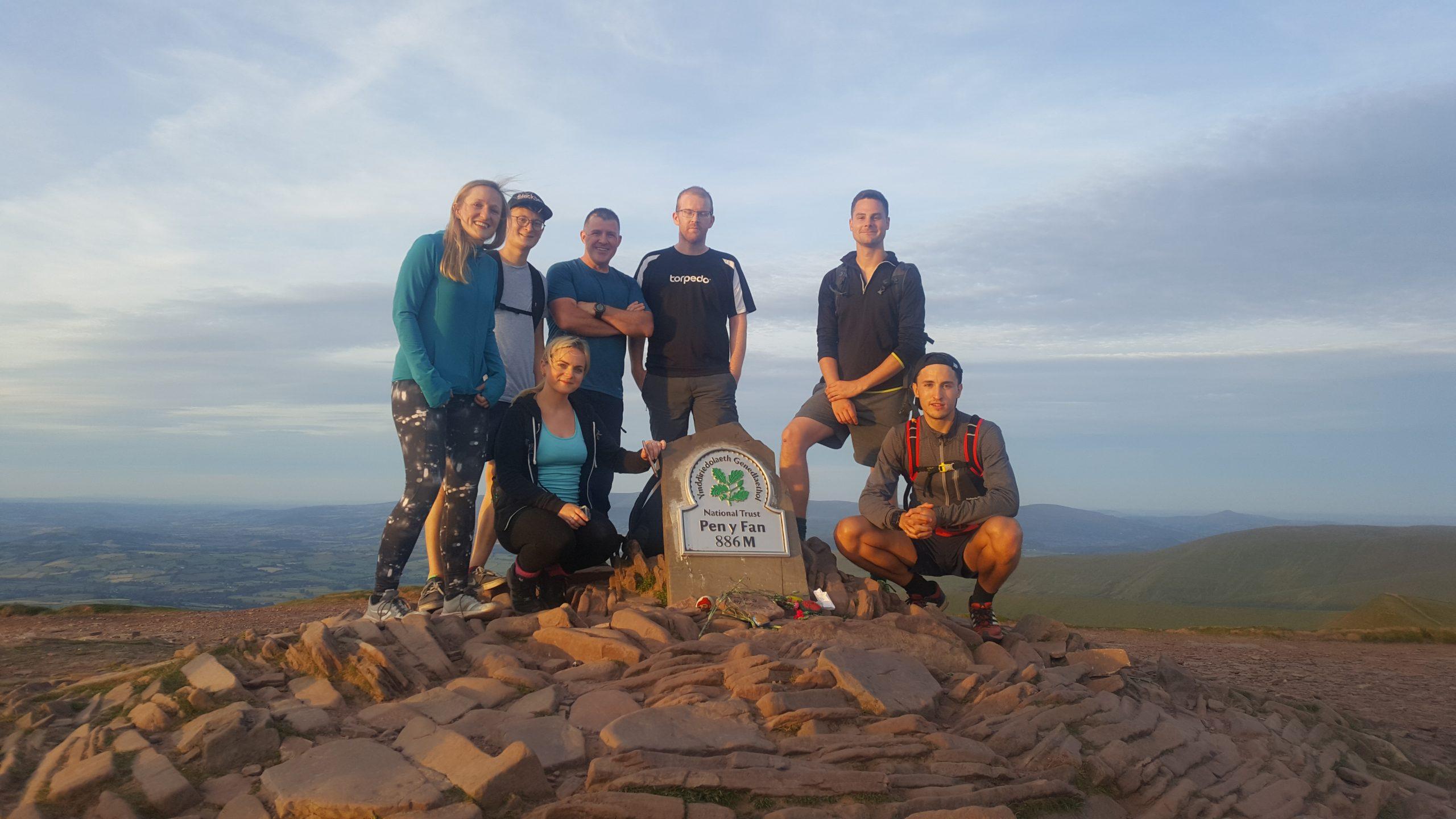 Summit of Pen y Fan on a Welsh 3 Peaks Challenge