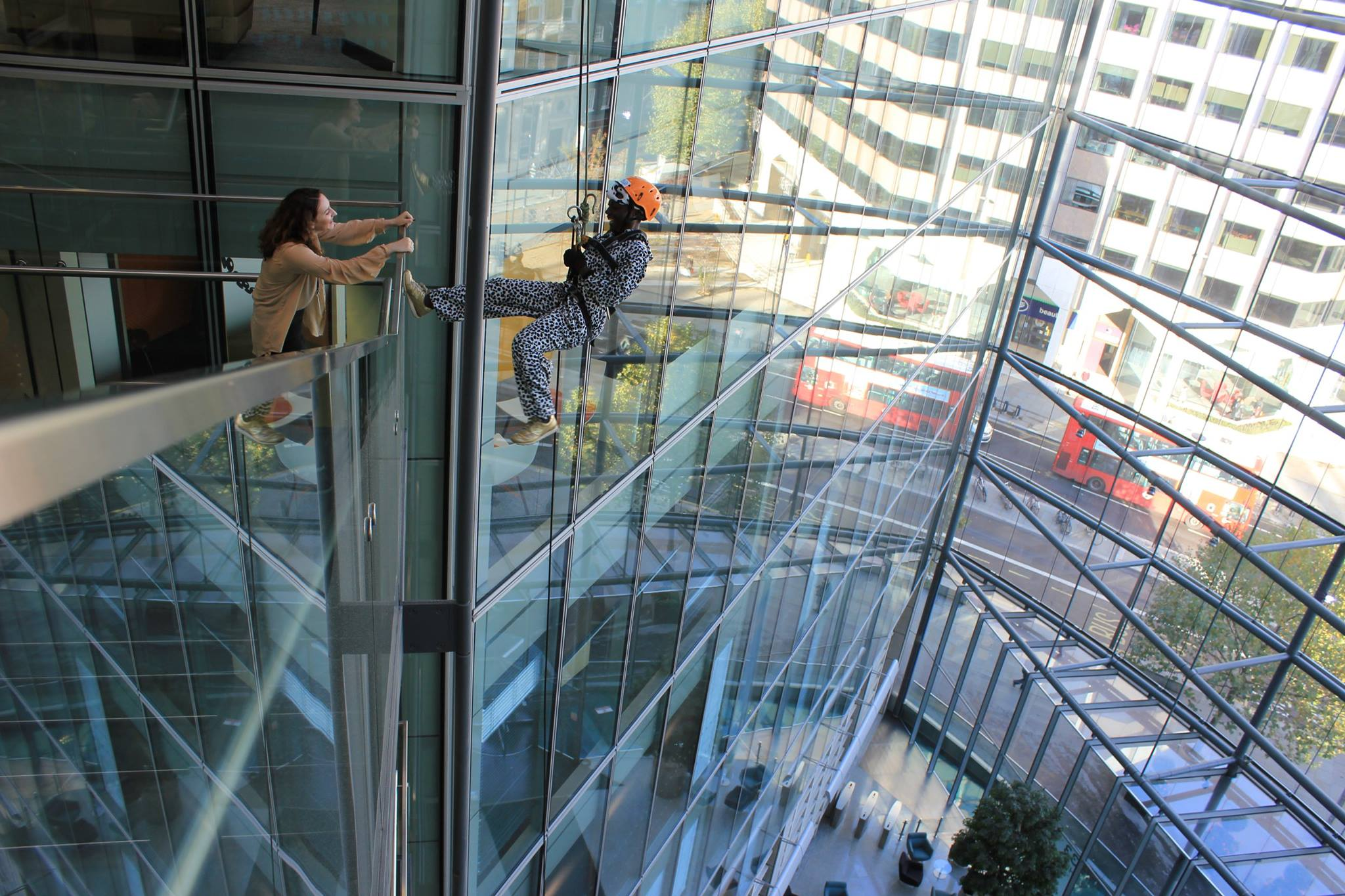 Indoor abseil event london