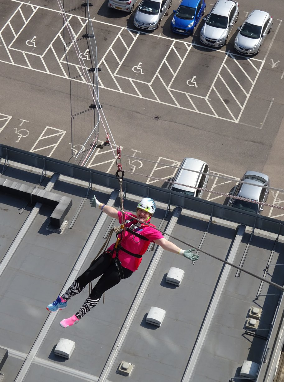 Vertical events zip wire