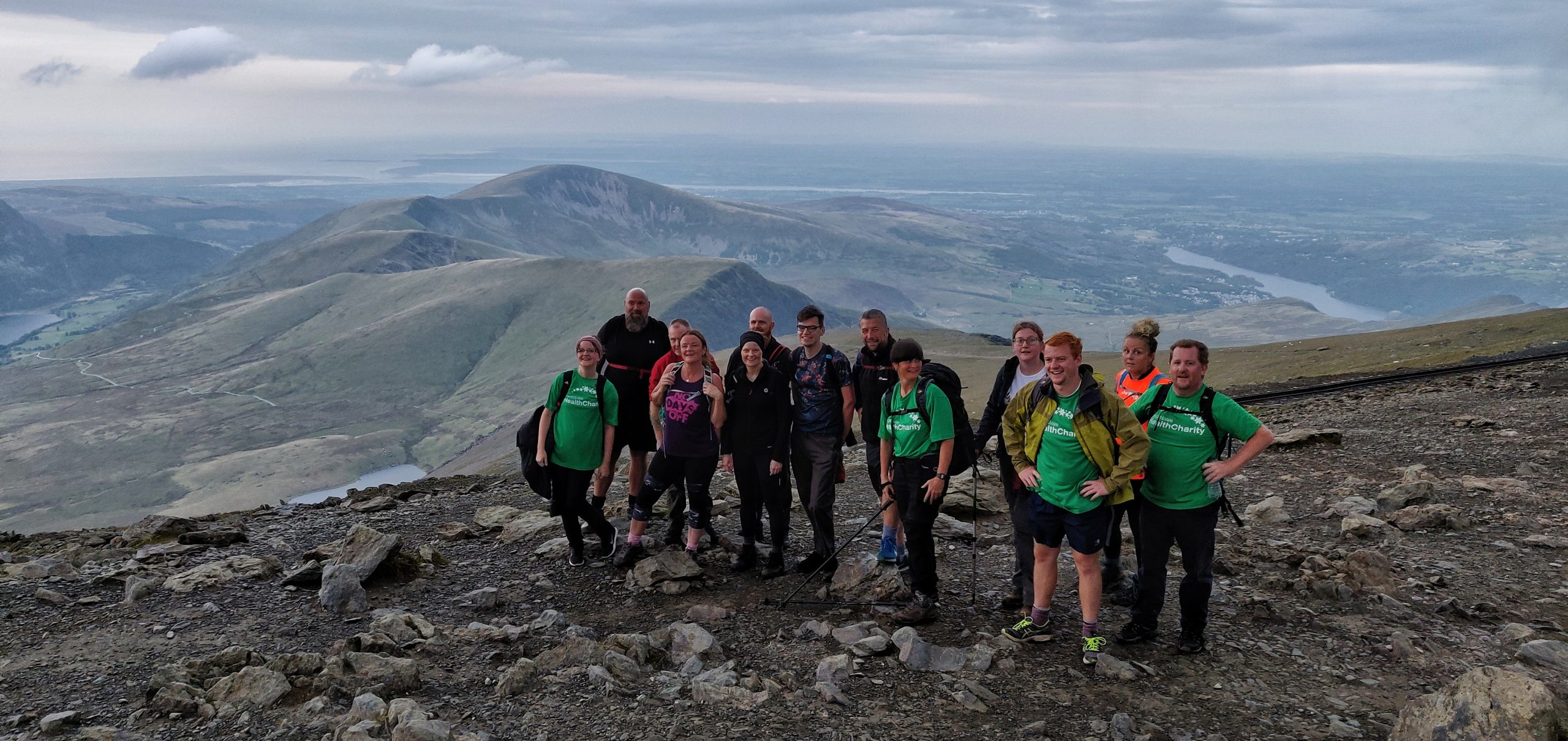 3 peaks team on Mt Snowdon