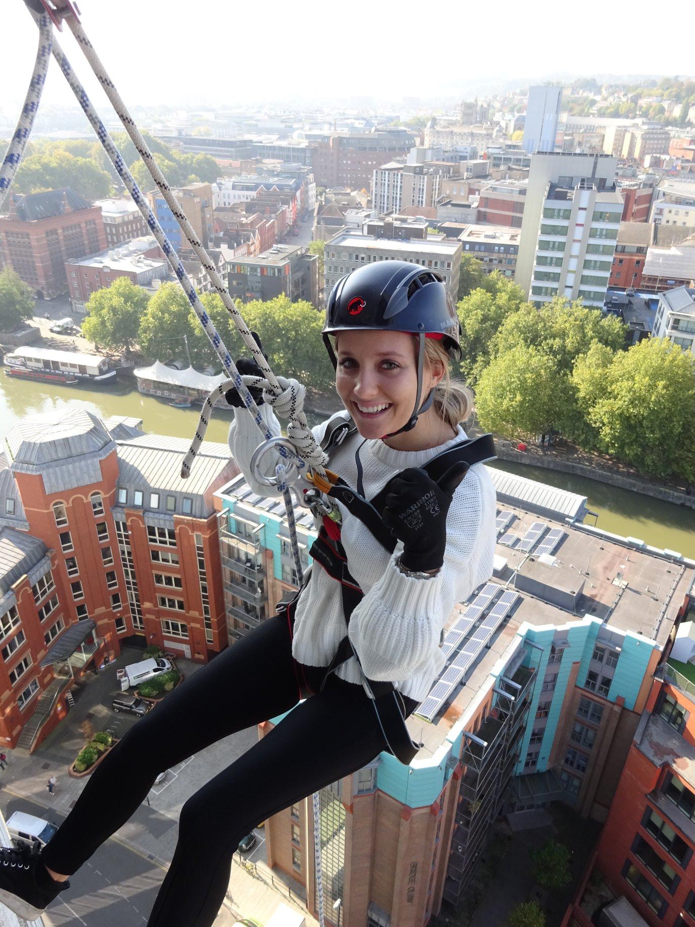 vertical events abseil in Bristol
