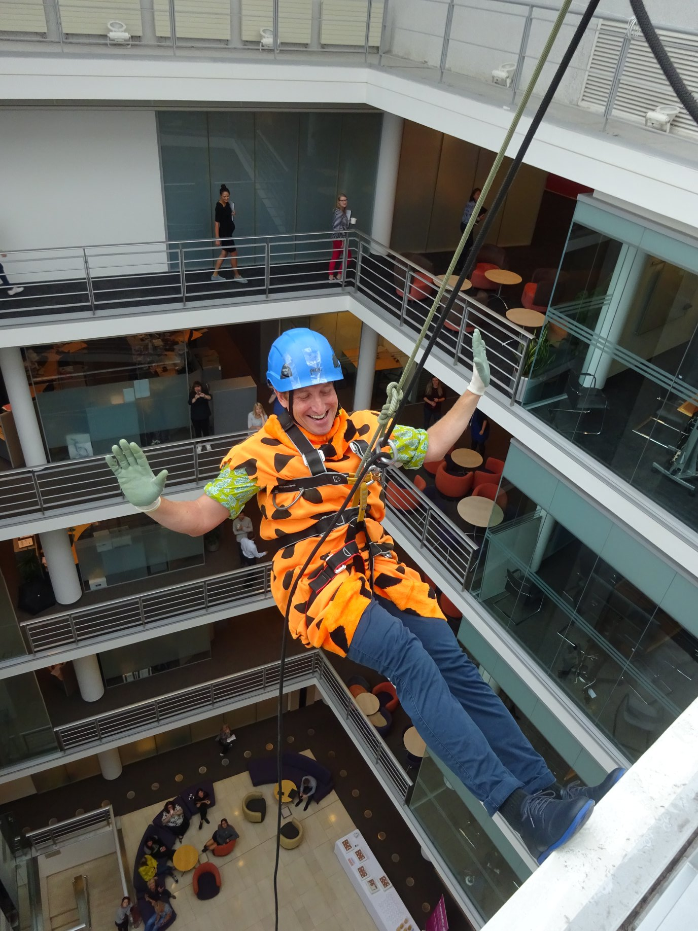 Indoor abseiling events at your office
