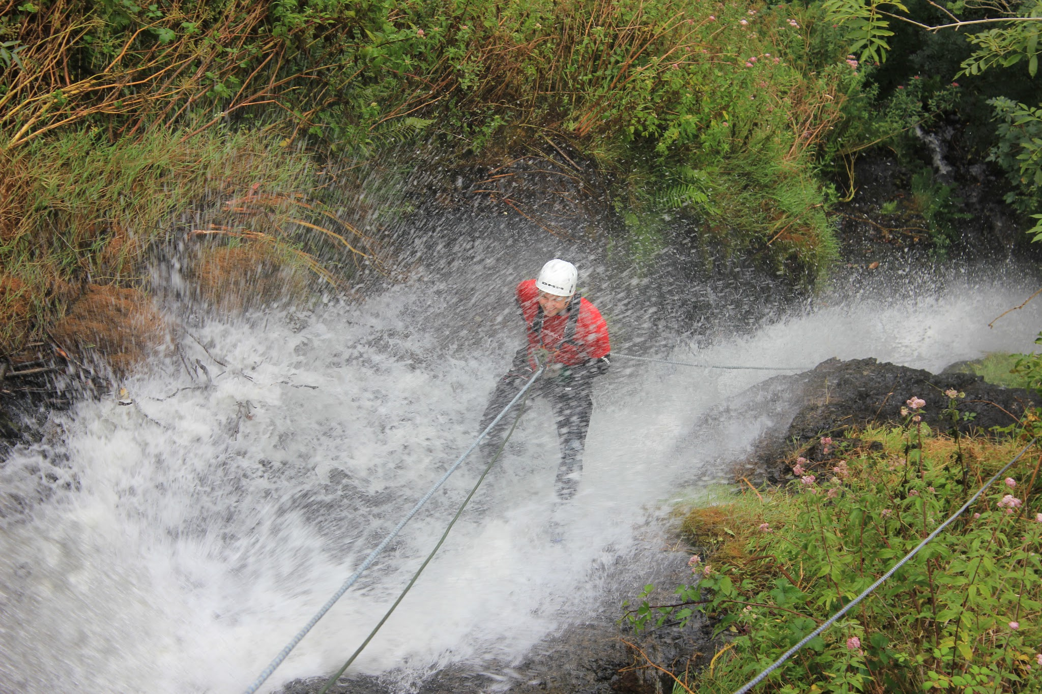 Vertical events waterfall abseil