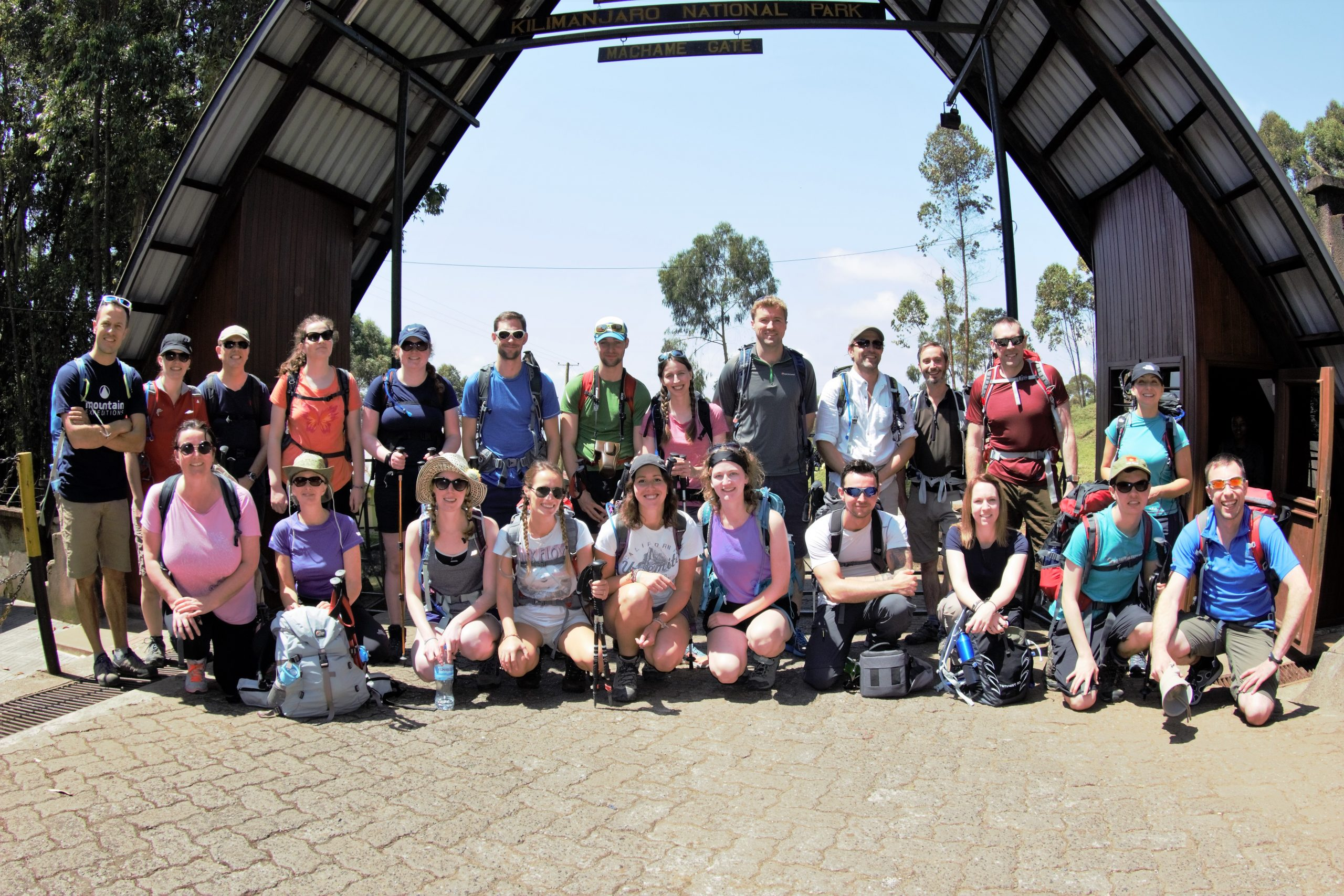 A group on Kilimanjaro