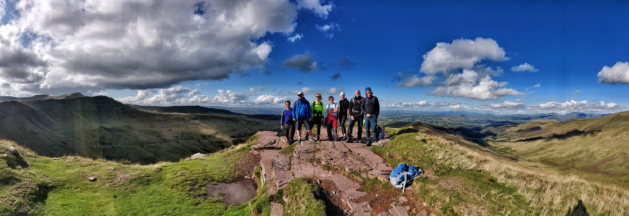 Vertical events team in the Brecon Beacons