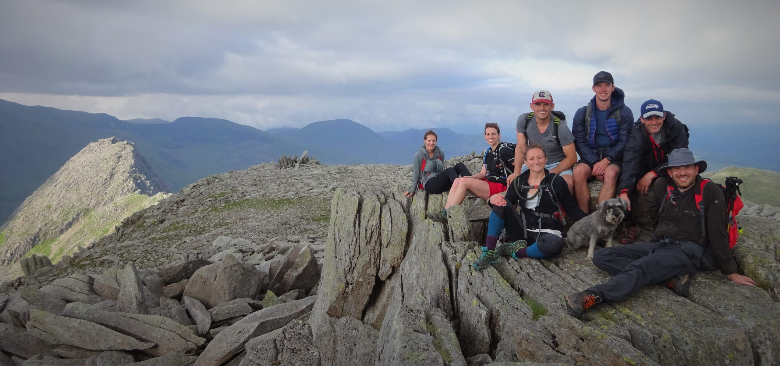 group in Snowdonia on an adventure challenge